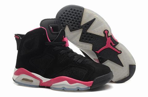 basket jordan femme noir et rose